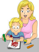 Coloring Book Toddler — Stock Photo