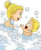 Bubble Bath Time — Stock Photo