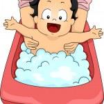 Baby Boy Bubble Bath — Stock Photo #46203181