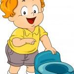 Potty Toddler — Stock Photo #46203423