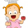 Baby Girl Chef — Stock Photo