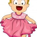 Baby Girl Pink Dress — Stock Photo #46204915