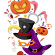 Halloween Party Elements — Stock Photo