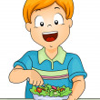 Salad Boy — Stock Photo #46208019