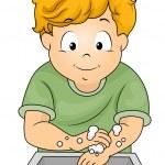 Boy Washing Hands — Stock Photo #46208049