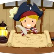 Pirate Boy Map — Stock Photo #46208269