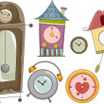 Clock Design Elements — Stock Photo #46208821