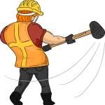 Sledgehammer Man — Stock Photo #46209483