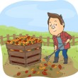 Compost Bin Man — Stock Photo #46209727