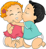 Baby Kiss — Stock Photo
