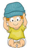Baby Boy Beanie — Stock Photo