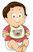 Babador de bebê menino — Foto Stock