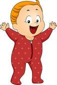 Baby Boy Footie Pajamas — Stock Photo