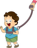 Baby Boy Backpack Leash — Stock Photo