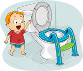 Baby Flushing Toilet — Stock Photo