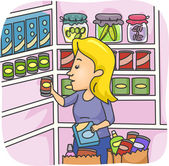 Pantry Stockpile — Stock Photo