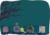 Halloween Tombstone — Stock Photo
