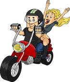 Coppia di biker — Foto Stock