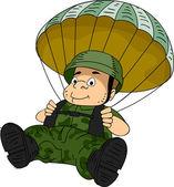 Fallschirmjäger — Stockfoto