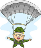 Paratrooper — Stockfoto