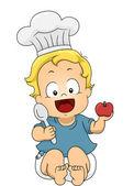 Baby Boy Chef — Stock Photo