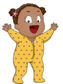Baby Girl Footie Pajamas — Stock Photo