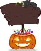 Halloween schild — Stockfoto