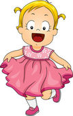 Baby Girl Pink Dress — Stock Photo