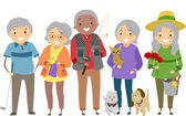 Senior Citizens Activities — Stock Photo