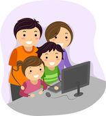 Family Computer — Stock Photo
