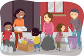 Family Waste Segregation — Stock Photo
