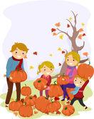 Pumpkin Family — Stock Photo