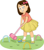 Croquet Girl — Stock Photo