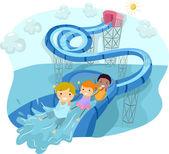 Water Slide Loop — Stockfoto