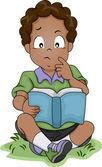 Düşünme Afro-Amerikan çocuk — Stok fotoğraf