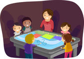 Interactive Surface Table Kids — Stock Photo
