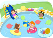 Kiddie Pool Party — Stock Photo
