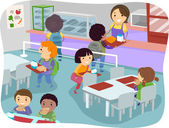 Canteen Kids — Stock Photo