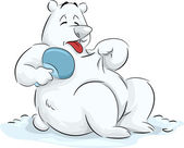 Global Warming Polar Bear — Stock Photo