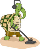Turtle Metal Detector — Stock Photo