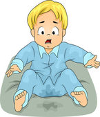 Bedwetting Boy — Stock Photo