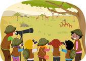 Class Field Trip Safari — Stockfoto