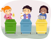 Waste Segregation Kids — Stock Photo