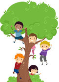 Tree Kids — Stockfoto