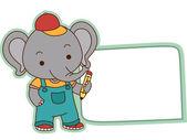 大象学生标签 — 图库照片