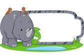 Safari Label Rhino — Stock Photo