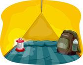 Camping Tent Interior — Stock Photo