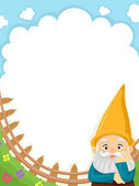 Garden Gnome Background — Stock Photo