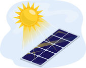 Solar Panel Absorbing Heat — Stock Photo