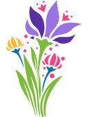 Flower Stencil — Stock Photo